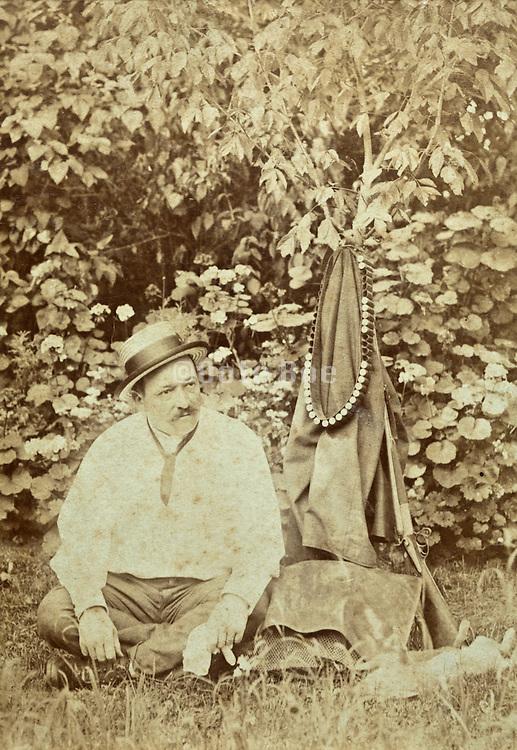 vintage portrait of hunter during a rest break