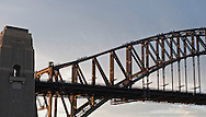 Bridge climbers climb the Sydney Harbor Bridge.