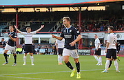Greg Stewart celebrates after opening the scoring for Dundee  - Dundee v Raith Rovers, Scottish League Cup at Dens Park<br /> <br />  - &copy; David Young - www.davidyoungphoto.co.uk - email: davidyoungphoto@gmail.com