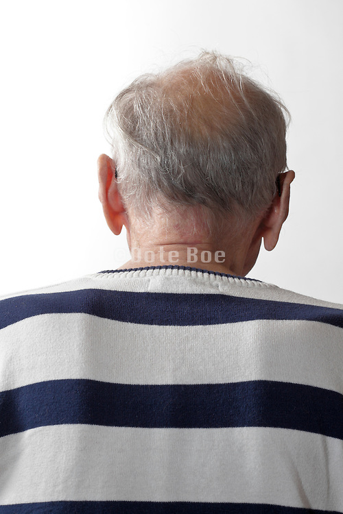 back of senior person