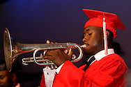 Eric Chastain performs the National Anthem during the Trotwood-Madison High School Commencement at the Victoria Theatre in downtown Dayton, Tuesday, June 1, 2010.