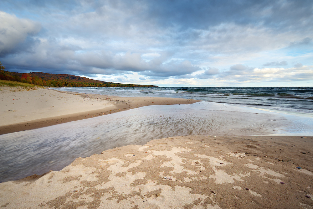 The end of a stormy morning at Union Bay near Porcupine Mountains State Park<br />
