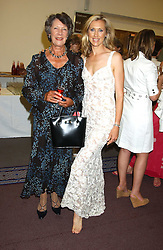 Left to right, JUDITH SKEPPER and her daughter COUNTESS ALLESANDRO GUERRINI-MARALDI  at a charity event 'In The Pink' a night of music and fashion in aid of the Breast Cancer Haven in association with fashion designer Catherine Walker held at the Cadogan Hall, Sloane Terrace, London on 20th June 2005.<br />