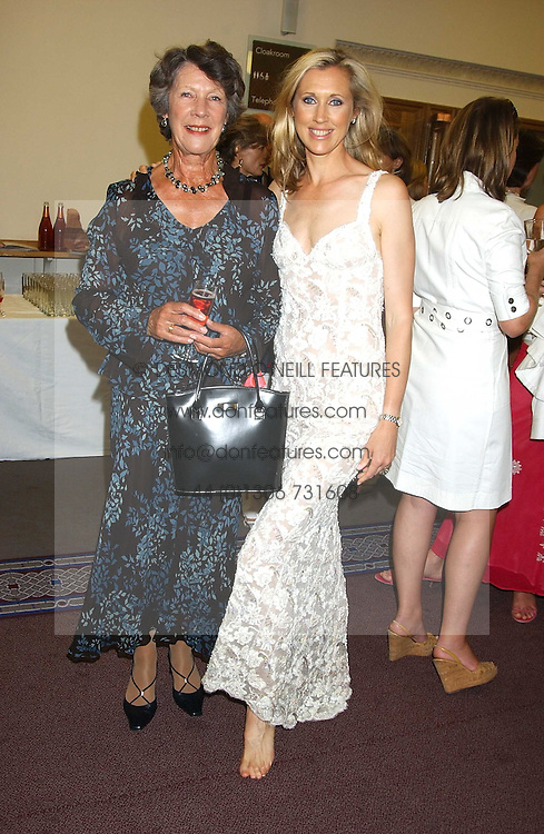 Left to right, JUDITH SKEPPER and her daughter COUNTESS ALLESANDRO GUERRINI-MARALDI  at a charity event 'In The Pink' a night of music and fashion in aid of the Breast Cancer Haven in association with fashion designer Catherine Walker held at the Cadogan Hall, Sloane Terrace, London on 20th June 2005.<br /><br />NON EXCLUSIVE - WORLD RIGHTS
