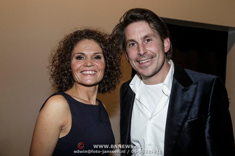 NLD/Laren/20150124 - Modeshow Addy van den Krommenacker Fall Winter 2015 'London revisited', Lodewijk Hoekstra en ........