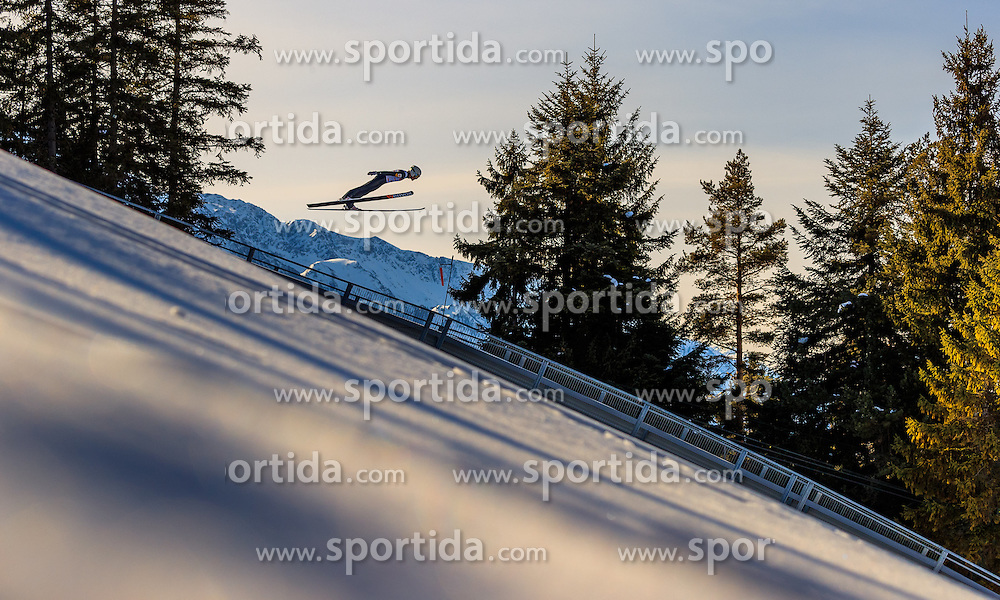 28.01.2017, Casino Arena, Seefeld, AUT, FIS Weltcup Nordische Kombination, Seefeld Triple, Skisprung, im Bild Franz-Josef Rehrl (AUT) // Franz-Josef Rehrl of Austria in action during his Trail Jump of Skijumping of the FIS Nordic Combined World Cup Seefeld Triple at the Casino Arena in Seefeld, Austria on 2017/01/28. EXPA Pictures © 2017, PhotoCredit: EXPA/ JFK