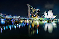 The Helix Bridge, Marina Bay Sands Resort & ArtScience Museum, Singapore