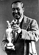 WALTER HAGEN-GOLFER-WITH OPEN CHAMPIONSHIP TROPHY 1928- HIS 4TH OPEN VICTORY<br />