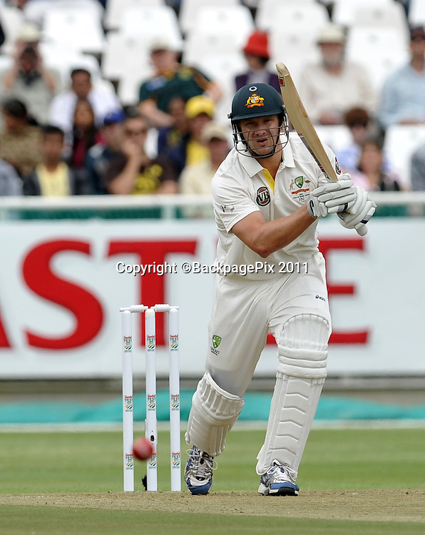 Shane Watson of Australia. South Africa v Australia, first test, day 1, Newlands, South Africa. 9 November 2011.<br /> <br /> &copy;Ryan Wilkisky/BackpagePix