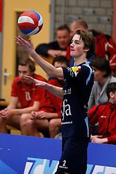 09-02-2013 VOLLEYBAL: NOJK 2013: HALVE FINALES DORDRECHT<br /> In Dordrecht werd de halve finale van de NOJK A Jeugd gespeeld / Next Volley Dordrecht<br /> ©2013-FotoHoogendoorn.nl / Pim Waslander
