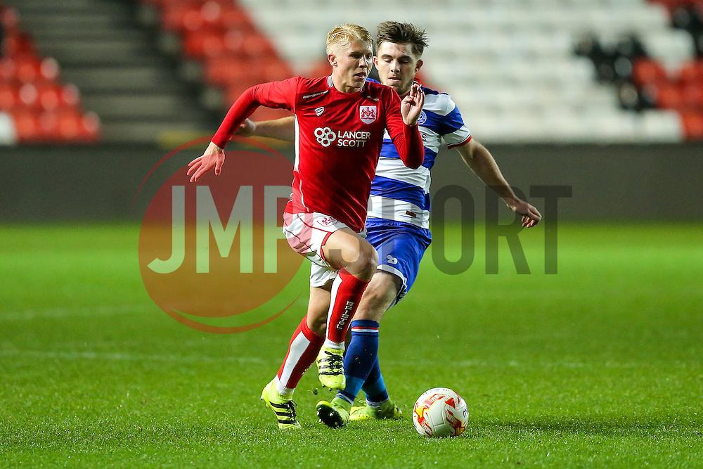 George Dowling of Bristol City U23 - Rogan Thomson/JMP - 17/10/2016 - FOOTBALL - Ashton Gate Stadium - Bristol, England - Bristol City U23 v Queens Park Rangers U23 - U23 Professional Development League 2 (South Division).