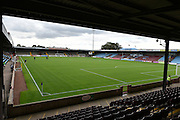 Glanford Park before start of play during the Sky Bet League 1 match between Scunthorpe United and Crewe Alexandra at Glanford Park, Scunthorpe, England on 15 August 2015. Photo by Ian Lyall.