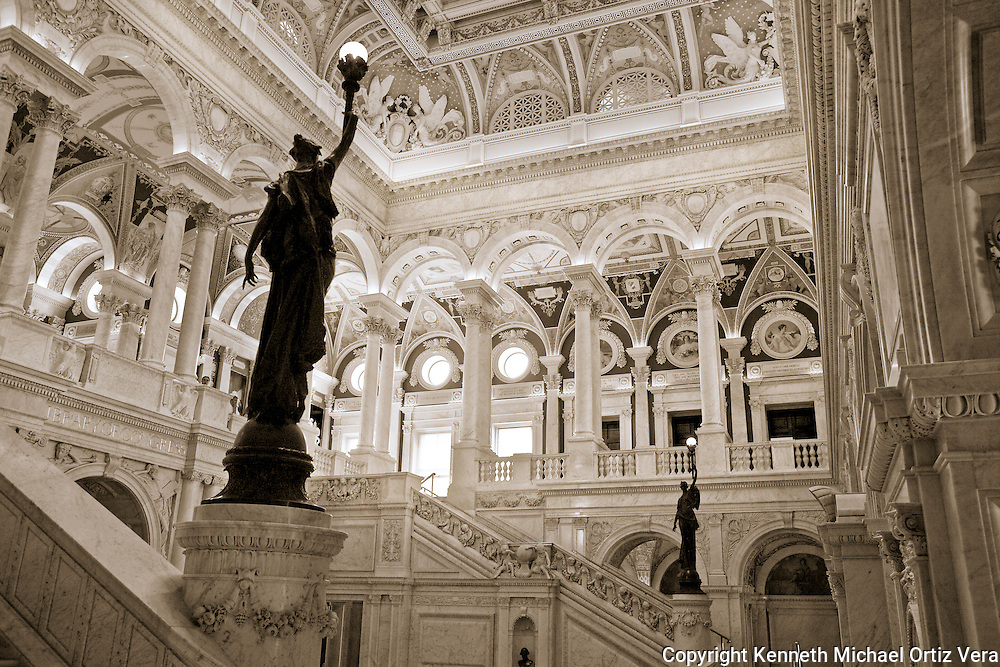 Main entrance to the Library of Congress.