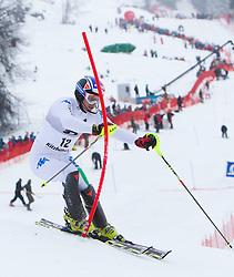 22.01.2012, Ganslernhang, Kitzbuehel, AUT, FIS Weltcup Ski Alpin, 72. Hahnenkammrennen, Herren, Slalom 1. Durchgang, im Bild Manfred Moelgg (ITA) // Manfred Moelgg of Italy during Slalom race 1st run of 72th Hahnenkammrace of FIS Ski Alpine World Cup at 'Ganslernhang' course in Kitzbuhel, Austria on 2012/01/22. EXPA Pictures © 2012, PhotoCredit: EXPA/ Johann Groder
