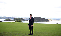 Rugby Union - 2017 British & Irish Lions Tour of New Zealand - British & Irish Lions Visit To Waitangi<br /> <br /> Sam Warburton of the Lions pictured in front of the Bay of Plenty after the British & Irish Lions Maori Welcome at Waitangi Treaty Grounds  in Waitangi, New Zealand. <br /> <br /> COLORSPORT/LYNNE CAMERON