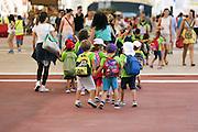 Children of a school visiting Expo 2015, Rho-Pero, Milan July 2015. &copy; Carlo Cerchioli<br /> <br /> Bambini di una scuola in visita a Expo 2015, Rho-Pero, Milano luglio 2015.