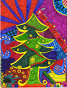 Holiday card designed by Alyssa Parks of Grady Middle School