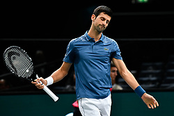 October 30, 2018 - Paris, Ile-de-France (region, France - Novak Djokovic (SER) vs Joao Sousa ( POR) at the Rolex Paris Masters at the AccorHotels Arena in Paris, France, le 30 octobre 2018 (Credit Image: © Julien Mattia/Le Pictorium Agency via ZUMA Press)