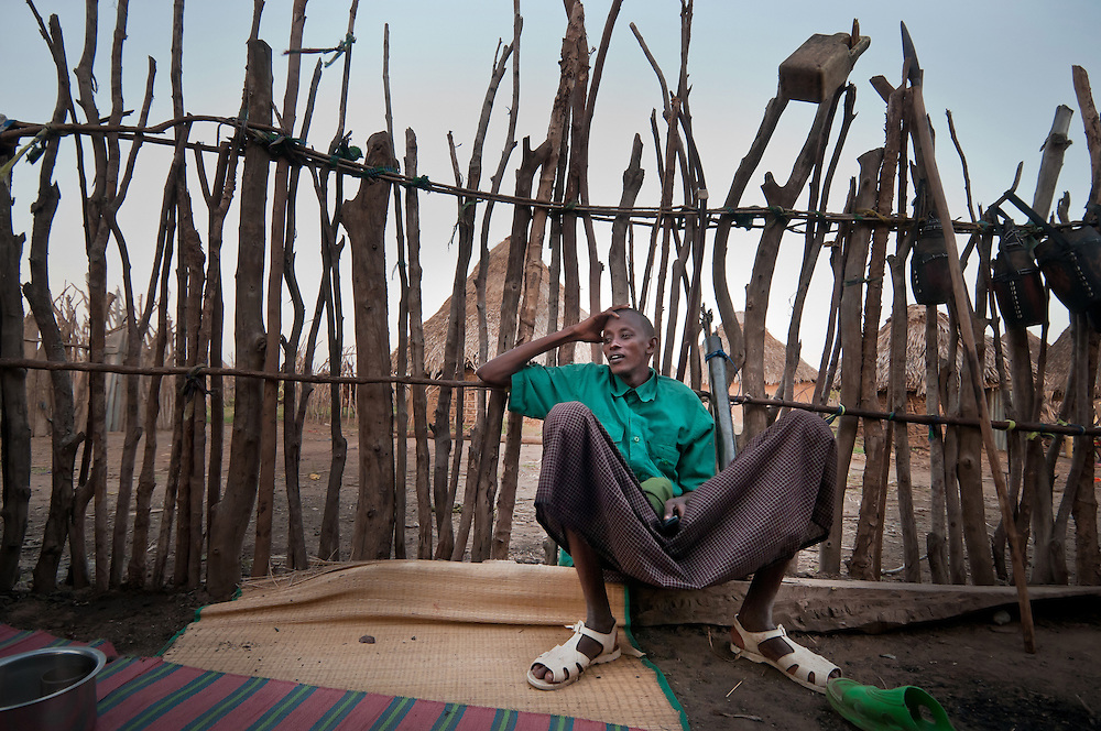 Ali Huko, an Orma of Handaraku village, takes a break from patroling the outskirts of the village. Ormas are still fearful of possible Pokomo attacks. In the run up to Kenya's Match 4 elections, many worry that the recent ethnic clashes in Tana Delta area could be a warning of violence to come.