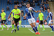 Chesterfield striker Conor Wilkinson (24) clears the ball Northampton defender Lewin Nyatanga (22) during the EFL Sky Bet League 1 match between Chesterfield and Northampton Town at the Proact stadium, Chesterfield, England on 17 September 2016. Photo by Aaron  Lupton.