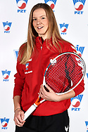 Warsaw, Poland - 2017 December 08: Tennis player Martyna Kubka from Poland poses while Photo Session of Fed Cup Team of Polish Tennis Association at Mera Tennis Club on December 08, 2017 in Warsaw, Poland.<br /> <br /> Mandatory credit:<br /> Photo by © Adam Nurkiewicz / Mediasport<br /> <br /> Adam Nurkiewicz declares that he has no rights to the image of people at the photographs of his authorship.<br /> <br /> Picture also available in RAW (NEF) or TIFF format on special request.<br /> <br /> Any editorial, commercial or promotional use requires written permission from the author of image.