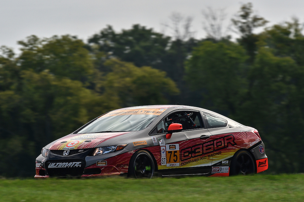 22-23 August 2014, Alton, Virginia USA<br /> 75, Honda, Civic Si, ST, Kyle Gimple, Ryan Eversley<br /> &copy;2014, Scott R LePage <br /> LAT Photo USA