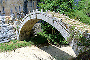 A stone bridge Zagori, Pindus mountains, Epirus, Greece.