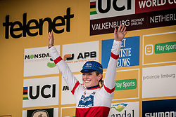 NOBLE Ellen (USA) leading the World Cup overall U23 after the Women's race, UCI Cyclo-cross World Cup at Valkenbrug, The Netherlands, 23 October 2016. Photo by Pim Nijland / PelotonPhotos.com | All photos usage must carry mandatory copyright credit (Peloton Photos | Pim Nijland)