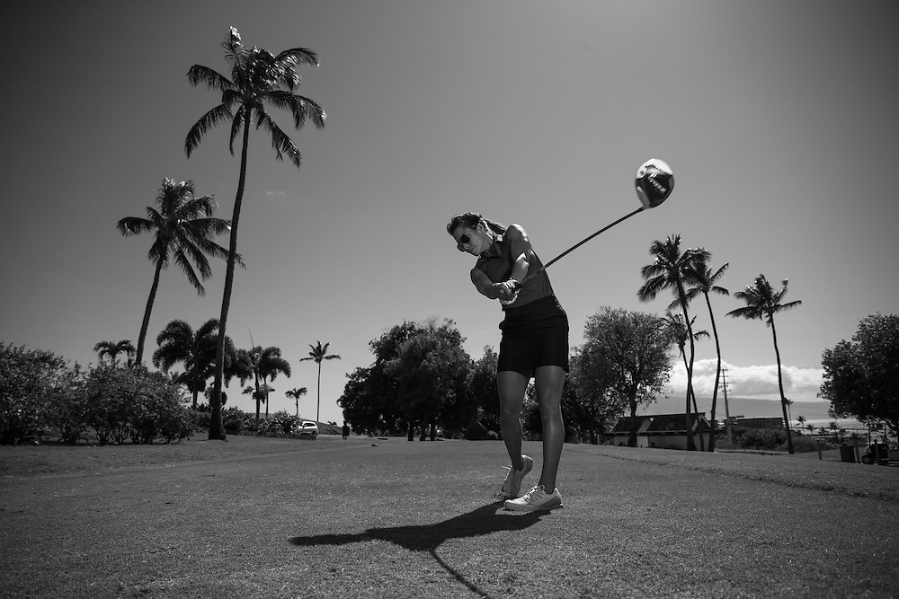 Portraits of Maui Fitness Trainer and Golfer Maria Alvarez