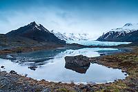 Svínafellsjökull glacier, Southeast Iceland.