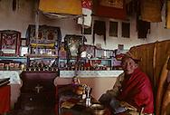 Mongolia. Pontsogtchoidlin, monastery  in a house in Ikh Tamir   /Monastere maison Temple de Pontsogtchoidlin Kree, Mongolie, sum de IK TAMIR.  /R87/58    L920726a  /  P0002578