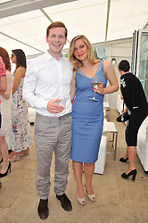 SHAUN EVANS and INDIA SINCLAIR at the Audi International Polo Day held at Guards Polo Club, Smith's Lawn, Windsor on 22nd July 2012.