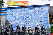 Mural on the exterior wall of Old Man's.