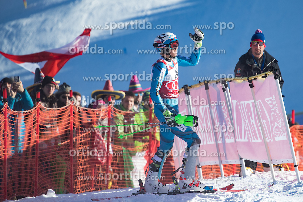 22.01.2017, Hahnenkamm, Kitzbühel, AUT, FIS Weltcup Ski Alpin, Kitzbuehel, Slalom, Herren, 1. Lauf, im Bild Henrik Kristoffersen (NOR) // Henrik Kristoffersen of Norway in action during his 1st run of men's Slalom of FIS ski alpine world cup at the Hahnenkamm in Kitzbühel, Austria on 2017/01/22. EXPA Pictures © 2017, PhotoCredit: EXPA/ Johann Groder