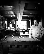 Gary Crunkleton at his new bar in Chapel Hill, appropriately named Crunkleton's.