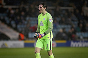 Peterborough United goalkeeper Luke McGee (1) celebrates an early goal during the EFL Sky Bet League 1 match between Peterborough United and Chesterfield at London Road, Peterborough, England on 10 December 2016. Photo by Nigel Cole.