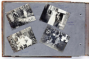 page from a photo album with happy family snapshots 1920s