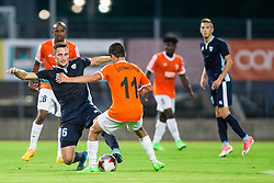 Rok Grudina of Gorica vs Vahan Bichakhchyan of Shirak during 2nd Leg football match between ND Gorica and FC Shirak in 1st Qualifying Round of UEFA Europa League 2017/18, on July 6, 2017 in Nova Gorica, Slovenia. Photo by Vid Ponikvar / Sportida