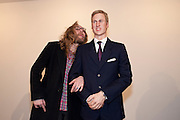 SIMON OLD; PRINCE WILLIAM WAXWORK 'Engagement' exhibition of work by Jennifer Rubell. Stephen Friedman Gallery. London. 7 February 2011. -DO NOT ARCHIVE-© Copyright Photograph by Dafydd Jones. 248 Clapham Rd. London SW9 0PZ. Tel 0207 820 0771. www.dafjones.com.