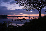 Pre-dawn summer sunrise in Camden, Maine
