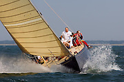 12 Meter Class Northern Light racing at the Nantucket 12 Meter Regatta