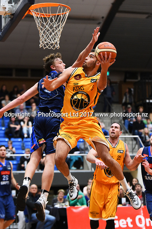 Taranaki player Xavier Shaw during their NBL Basketball game Nelson Giants v Taranaki Mountain Airs. Trafalgar Centre, Nelson, New Zealand. Saturday 29 April 2017. ©Copyright Photo: Chris Symes / www.photosport.nz
