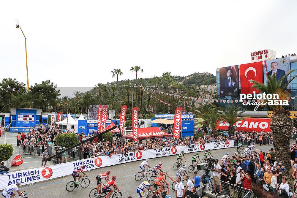 Tour of Turkey 2015 / Stage 1/ Alanya - Alanya/ 144.8km/ Peloton