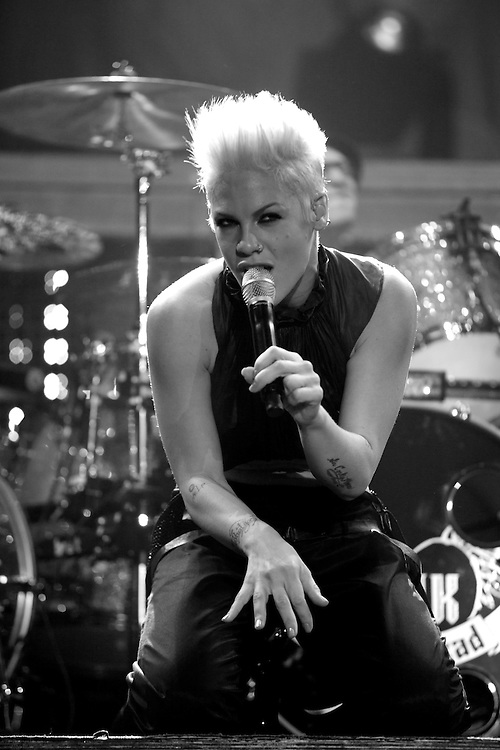 Pink performing live at Sheffield Arena