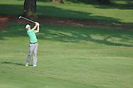 Golfer Keegan Bradley swings on the 10th hole at the PGA FedEx St. Jude Classic at TPC Southwind in Memphis, Tenn. on Thursday, June 9, 2011.