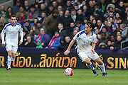 Leicester City forward Shinji Okazaki (20) during the Barclays Premier League match between Crystal Palace and Leicester City at Selhurst Park, London, England on 19 March 2016. Photo by Phil Duncan.