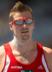 Roland Schwarzl of Austria competes in the Mens Decathlon Shot Put during day two of the 20th European Athletics Championships at the Olympic Stadium on July 28, 2010 in Barcelona, Spain. (Photo by Vid Ponikvar / Sportida)