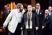 Rigoletto <br /> by Verdi <br /> English National Opera at the London Coliseum, London, Great Britain <br /> rehearsal <br /> 31st January 2017 <br /> <br /> <br /> <br /> Nicholas Pallesan as Rigoletto <br /> <br /> Nicholas Folwell as Monterone <br /> <br /> <br /> <br /> <br /> <br /> Photograph by Elliott Franks <br /> Image licensed to Elliott Franks Photography Services