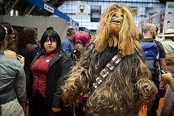 © Licensed to London News Pictures . 26/07/2015 . Manchester , UK . Chewbacca inside the venue . Comic Con convention at Manchester Central Convention Centre . Photo credit : Joel Goodman/LNP