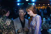 Nadine Shah, Noel Gallagher, Florence + The Machine having a conversation before the show begins